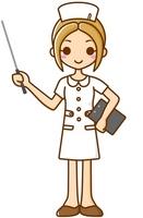Nurse pointing stick Nurse