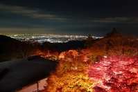 Oyama autumn leaves and night view Stock photo [1734626] Autumn