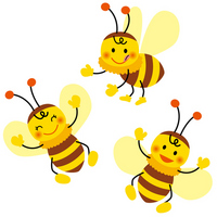 Honey bees stock photo