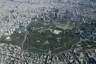 Tokyo Imperial Palace around aerial photo Stock photo [1804701] Tokyo
