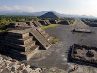 View from Teotihuacan, month of pyramid Stock photo [1914969] Teotihuacan