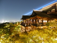 The night view of Kiyomizu-dera Stock photo [1921431] Kyoto