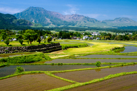 Aso of mountains and rice paddies Stock photo [2022170] Aso