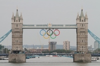 London Tower Bridge Olympic decoration 2012 Stock photo [2025488] London