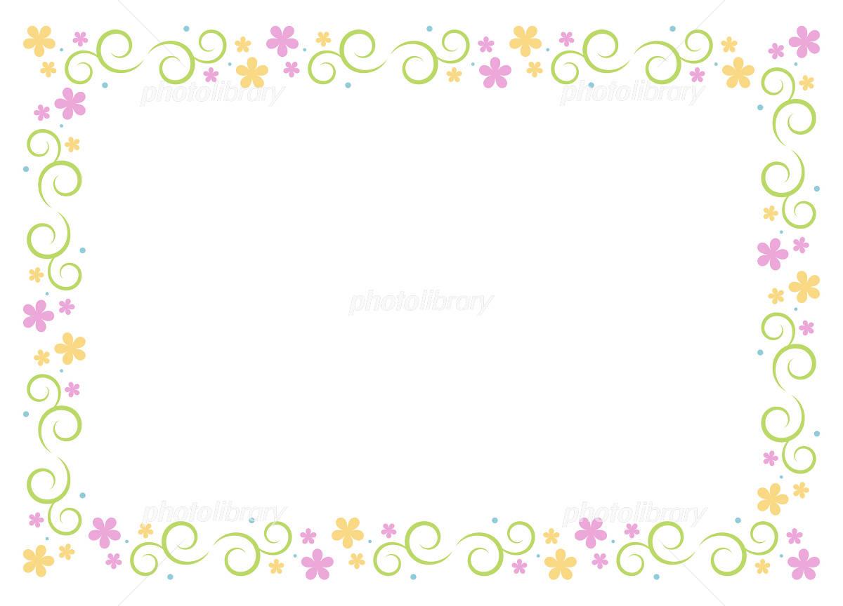 花 フレーム イラスト素材 2130218 フォトライブラリー Photolibrary