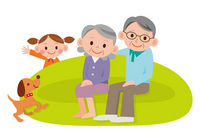 Senior couple living sofa [2124567] Respect-for-the-Aged