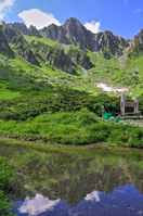 Hokendake / summer that reflected in Senjojiki Carl pond Stock photo [2131462] Senjojiki