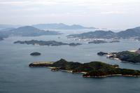 View of the Seto Inland Sea from Hiroshima Prefecture Mihara Stock photo [2131889] Mihara