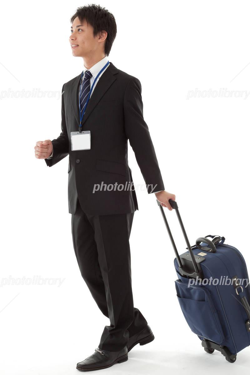 Businessman in business trip Photo