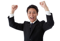 Young businessman to the guts pose Stock photo [2241002] Takes