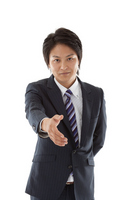 Young businessman seeking handshake Stock photo [2241247] Businessman