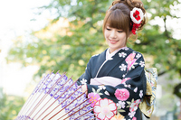 Long-sleeved kimono Stock photo [2243030] Person