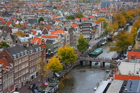 Amsterdam city and canal network that is viewed from the tower of the West Church Stock photo [2245075] Netherlands