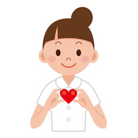 White coat of nurse with a Heart Nurse