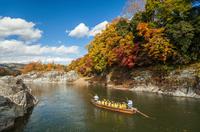 Autumn leaves of Nagatoro and line down Stock photo [2247957] Nagatoro