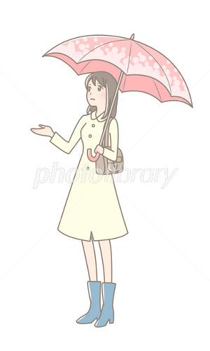 傘をさす女性 イラスト素材 2361644 フォトライブラリー Photolibrary