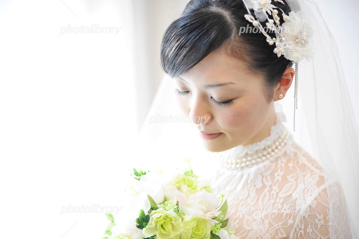 Bride wedding wedding dress Photo