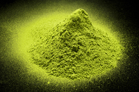 Powder of the green tea to black background Stock photo [2359105] Matcha