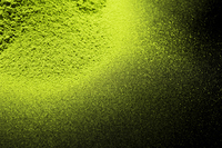 Powder of the green tea to black background Stock photo [2359107] Matcha