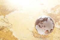 Old world map and globe Stock photo [2360010] Map