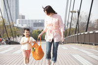 Girl with the eco bag with his mother Stock photo [2363333] ECO