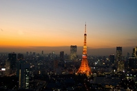 Tokyo sunset and Tokyo Tower Stock photo [2365445] Tokyo