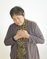 Women who are holding the chest Stock photo [2367953] Worry