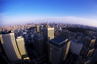 Streets of central Tokyo district with views from Shinjuku Stock photo [2369222] Super