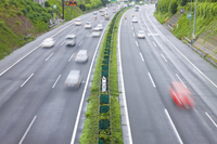 Car that runs the highway Stock photo [2371064] Automotive