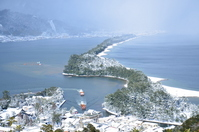 Covered with snow Amanohashidate Stock photo [2373063] Amanohashidate
