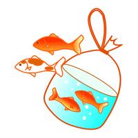 Goldfish scooping [2375148] Goldfish