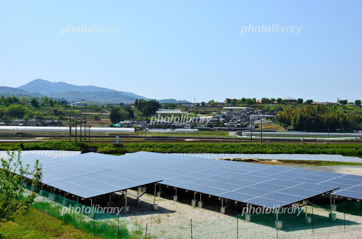 Solar power in the countryside Photo