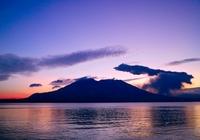 Early morning of Sakurajima eruption Stock photo [2485212] Kagoshima