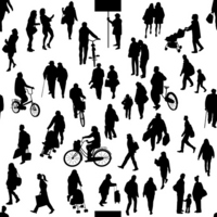 City people silhouette [2490478] Silhouette