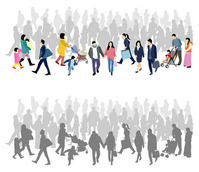 people silhouette walking [2490485] People