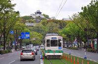 Kumamoto Castle and tram Stock photo [2493281] Kumamoto