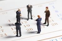 Calendar and businessman Stock photo [2493661] Calendar