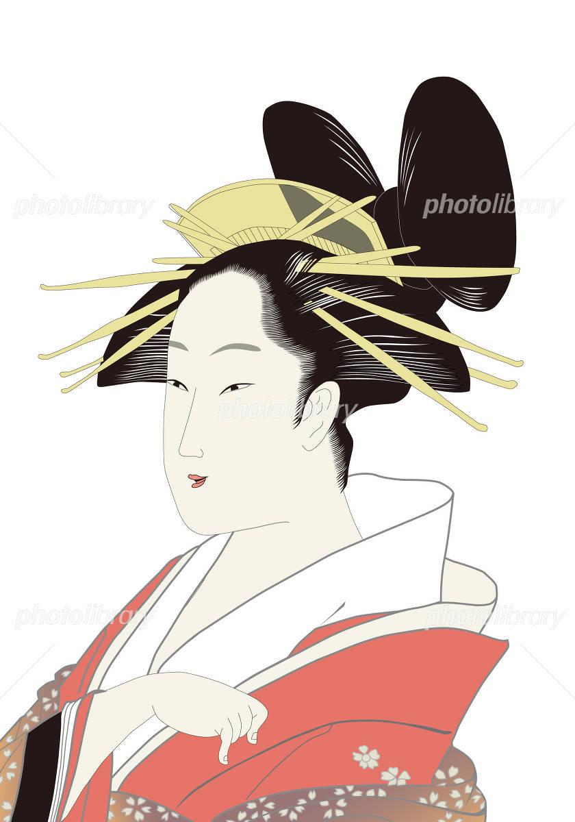鳥高斎栄昌 美人画 浮世絵イメージ イラスト素材 2613675 フォト