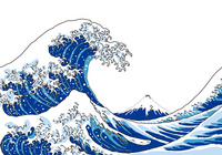 Katsushika Hokusai Thirty-six Views of Mount Fuji Great Wave Off Kanagawa image stock photo