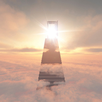 Stairs above the clouds [2614964] CG