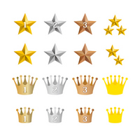 Index Stars & crown icon set [2615941] Star
