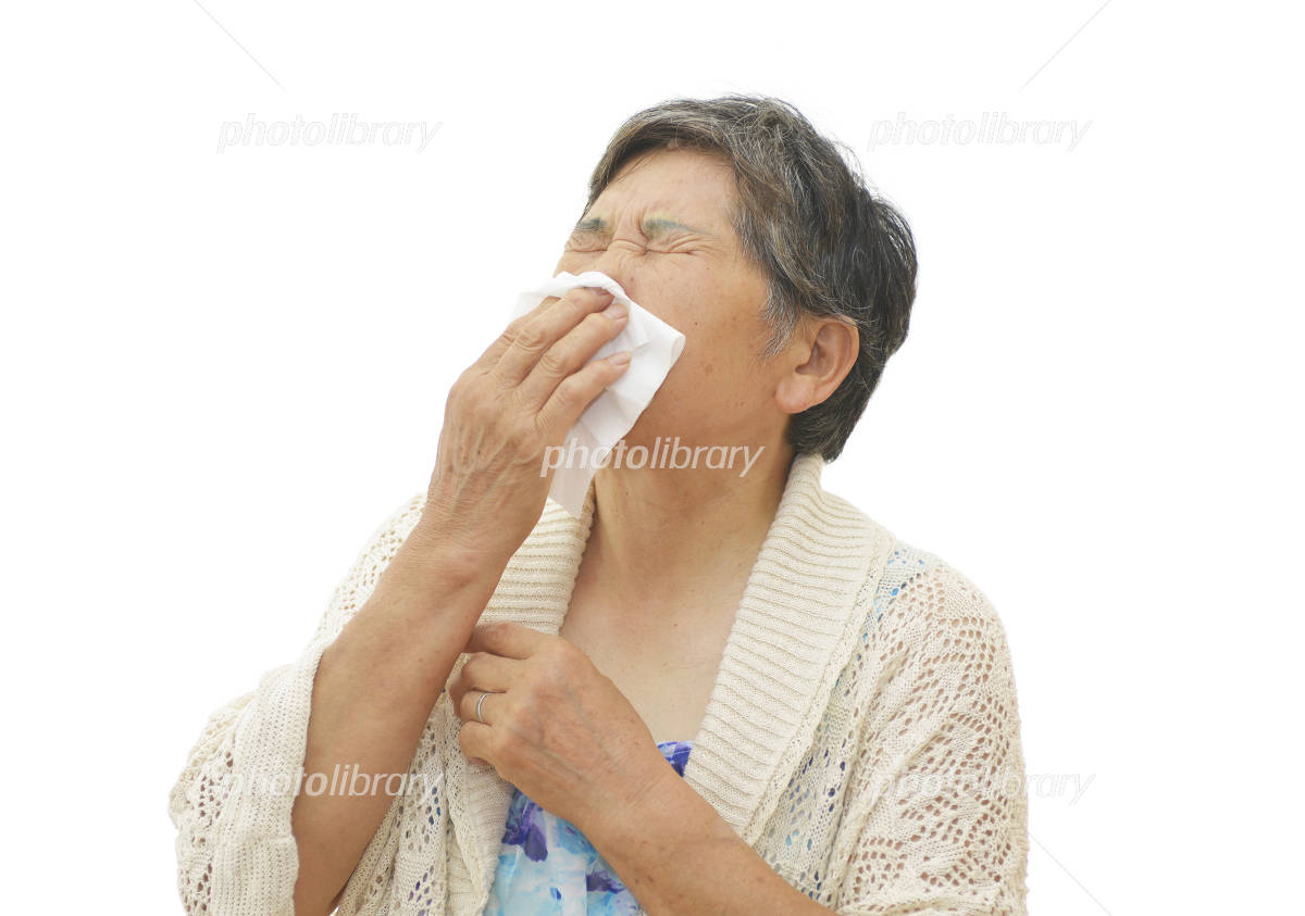Women's image of rhinitis Photo