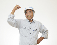 Male workers to the guts pose Stock photo [2702112] Smile