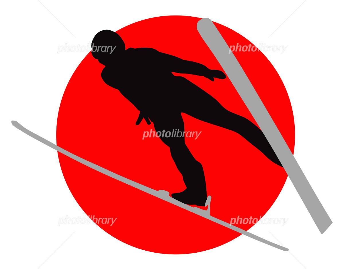 Ski jump イラスト素材