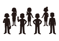 Business Man and Business Woman of the silhouette [2784725] Businessman