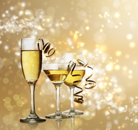The decorations and champagne glass Stock photo [2785596] Champagne
