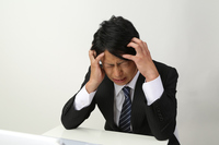 Businessman downward to worry to see PC Stock photo [2790105] PC