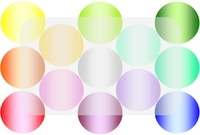 Post card colorful Circle (White) Stock photo [85612] Post