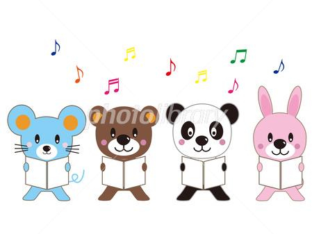動物 合唱 可愛い イラスト素材 2877408 フォトライブラリー