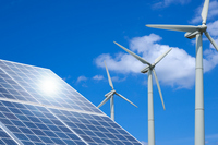 Wind power and solar power generation Stock photo [2877192] Wind